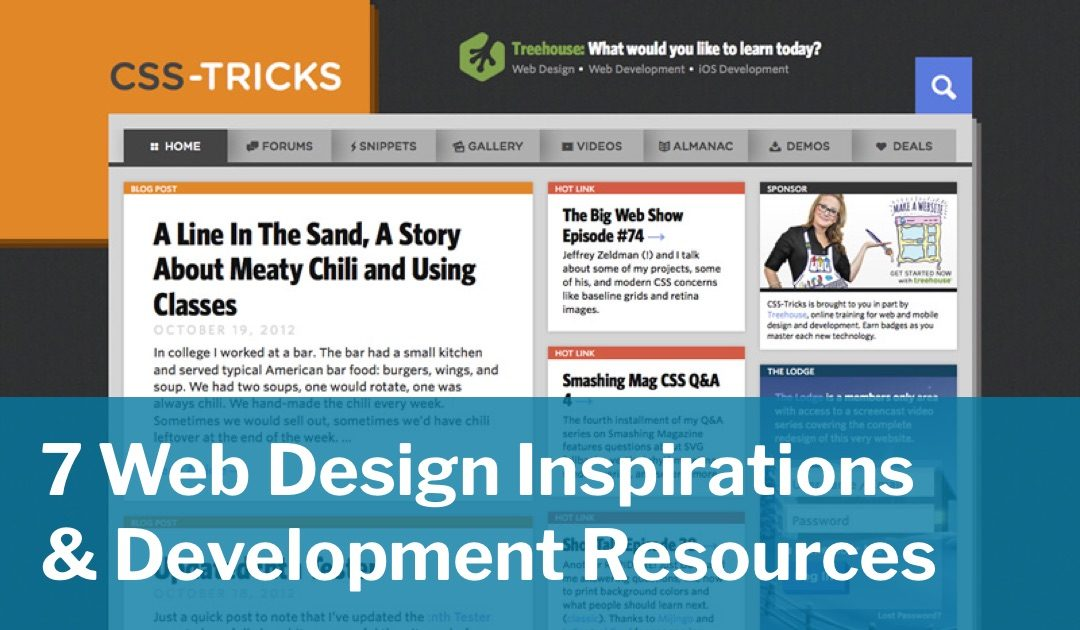 7 Web Design Inspirations & Development Resources