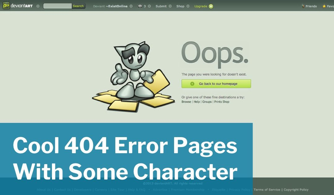 Cool 404 Error Pages With Some Character