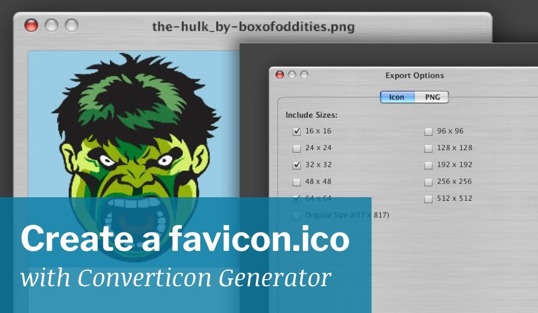 Create a favicon.ico with Converticon Generator