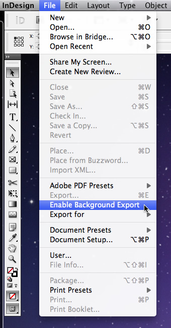How to Disable Adobe InDesign Background Tasks