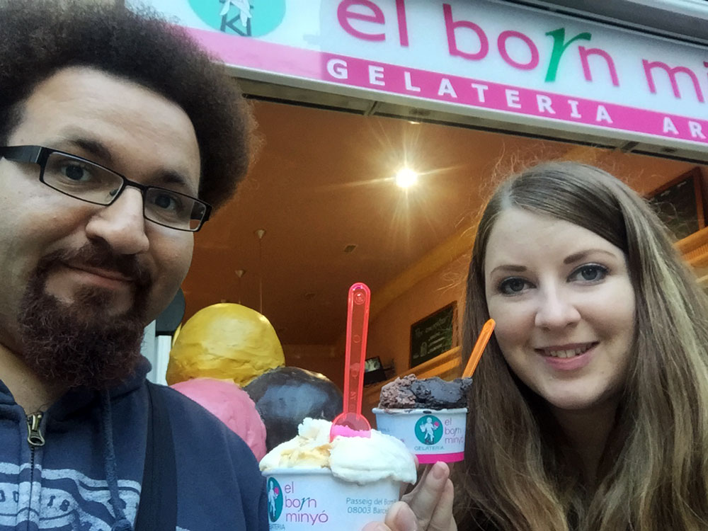 Laura & Geoff Franklin at El Born Minyó Gelateria Artesana, Barcelona, Spain