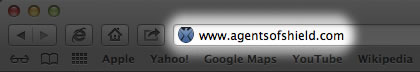 No page URLs for Agents of SHIELD website