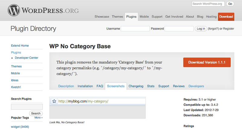 Free WordPress Plugins - WP Remove Category Base